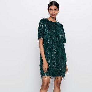 Zara Short Fringed Dress